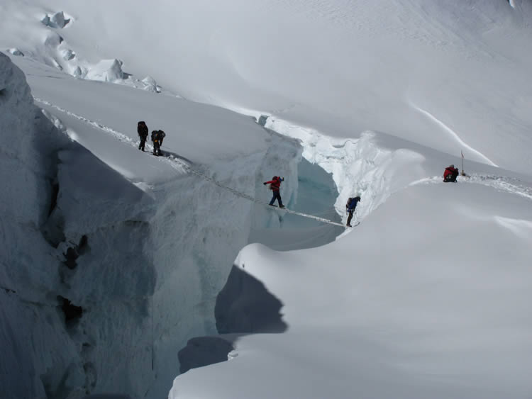 Image result for everest crevasse